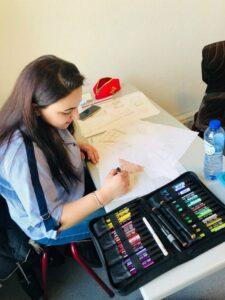 Vakopleiding: Kleuren & Tekentechnieken